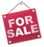 For Sale Sign - Plexi Signboard Royalty Free Stock Photo