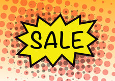 Sale sign pop art in vector Stock Images