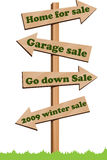 sale sign post Royalty Free Stock Image