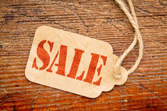 Sale sign  on a price tag Stock Photo