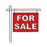 For sale sign Royalty Free Stock Images