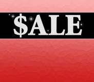 Sale sign with red background Stock Photos