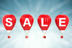 Sale sign on red balloons Royalty Free Stock Photo
