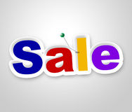 Sale Sign Represents Clearance Discounts And Promotion Stock Photography