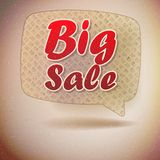 Sale sign in retro speech bubble. Stock Photo