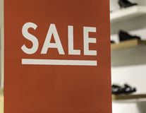 Sale Sign with Shoes Royalty Free Stock Photo