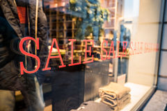 Sale Sign ( Shop Window) Stock Images