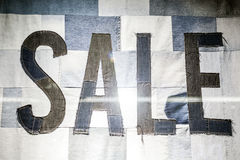 Sale sign in a shop window Stock Image