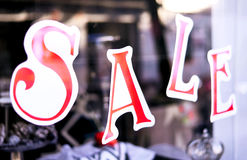 Sale sign in a shopping mall Stock Image