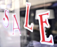 Sale sign in a shopping mall Stock Images