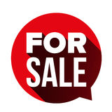 For Sale sign speech bubble Royalty Free Stock Image