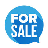 For Sale sign speech bubble Stock Photo