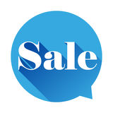 Sale sign speech bubble Royalty Free Stock Images
