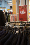 Sale sign at store Stock Images