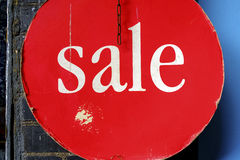 Sale sign in a store in London Stock Photography