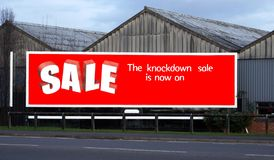 Sale sign Royalty Free Stock Photography
