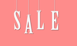 Sale sign, vector illustration Royalty Free Stock Image