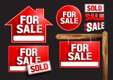 For sale Signs Symbols royalty free illustration