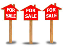 For sale sign  on white background Stock Images