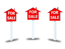 For sale sign  on white background Royalty Free Stock Photo