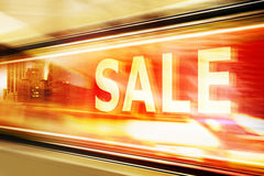 Sale Signon Shop Window Royalty Free Stock Photography