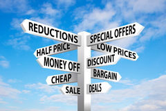 Sale Signpost Royalty Free Stock Photo