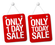 Sale signs. Royalty Free Stock Images