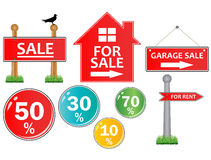 For sale signs Stock Photography