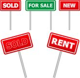 Sale signs Stock Photography
