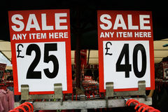 Sale Signs Royalty Free Stock Image