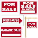 For sale signs collection Stock Photos