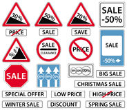 Sale signs set Royalty Free Stock Images