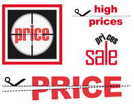 Sale signs set Royalty Free Stock Image