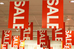Sale signs. Shopping concept -horizontal Royalty Free Stock Photo
