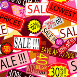 Sale signs stickers and labels Stock Photography