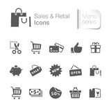 Sale & släkta symboler för detaljhandel stock illustrationer