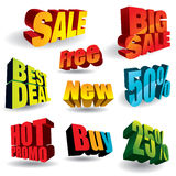 Sale slogans Stock Images