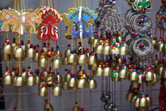 Sale of small bells, Singapore Stock Images