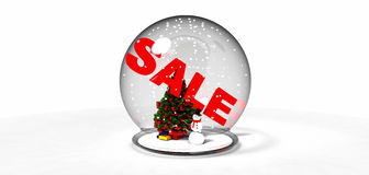 Sale Snow globe Royalty Free Stock Images