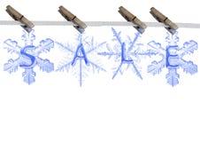 Sale on  snowflake Royalty Free Stock Photo