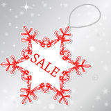 Sale on snowflake stock illustration