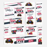 Sale social media banner set for Father's Day. Stock Photos