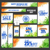 Sale social media post or header for Republic Day. Royalty Free Stock Image