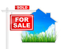 For Sale - Sold Stock Image
