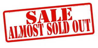 Sale almost sold out Royalty Free Stock Images