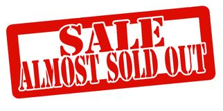 Sale almost sold out Royalty Free Stock Image