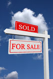 For sale and sold sign Stock Images
