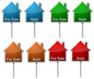 Sale and sold signs Stock Photo