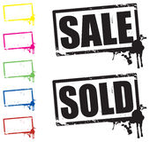 Sale and sold stamp Royalty Free Stock Photography