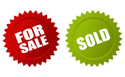 For sale sold icon Royalty Free Stock Photography
